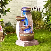 Kelkay Azure Columns Water Feature with LED Lights