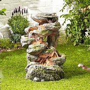 Kelkay Rugged Rocks Water Feature with LED Lights