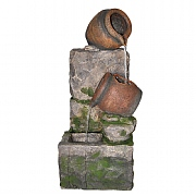 Kelkay Stone Wall Trickle Water Feature with LED Lights