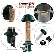 PestOff Mixed Seed Squirrel Proof Bird Feeder