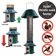 PestOff Nyjer Seed Squirrel Proof Bird Feeder