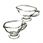Artesa Set of 2 Glass Mini Sauce Boats