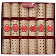 "Robin Reed Racing Robin 13"" Christmas Crackers Pack of 6"