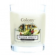 Winter Spruce Scented Candle Glass