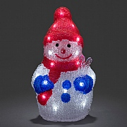 Acrylic LED Snowman - Battery Operated