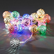 20 Multi Colour Metal Balls Light Set