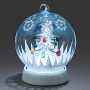 Colour Changing Christmas Tree Glass Ball - Battery Operated