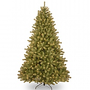 6.5ft Pre-Lit Lakewood Spruce Feel-Real Artificial Christmas Tree