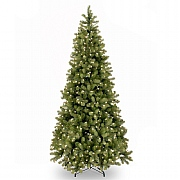 7.5ft Pre-Lit Bayberry Spruce Slim Feel-Real Artificial Christmas Tree
