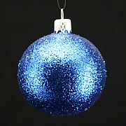 Blue Glitter Bauble 70mm