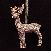 Gisela Graham Copper Glitter Resin Deer