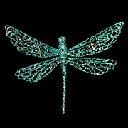 Turquoise Glitter Acrylic Dragonfly 18cm
