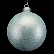 Pale Blue Frosted Bauble 80mm
