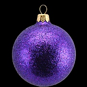 Gisela Graham Purple Glitter Ball - 70mm
