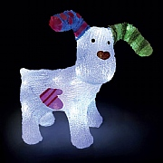 The Snowdog Ice White LED Acrylic Figure 31cm