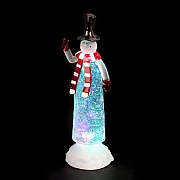 27cm Water Filled Slim Snowman