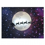 Santa & Moon LED Canvas 40x30cm
