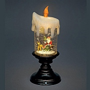 25cm Water Filled Santa Candle