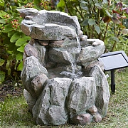 Smart Solar Rock Falls Solar Fountain