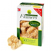 Certainly Wood Natural Flamers Firelighter 50 Pack