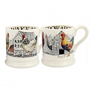 Emma Bridgewater Hen & Toast Set Of 2 Half Pint Mugs