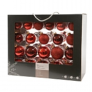 Decoris Box of 42 Red Assorted Baubles