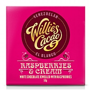 Willie's Cacao Raspberries & Cream White Chocolate 50g