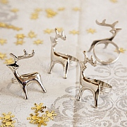 Reindeer Napkin Rings Set of 4