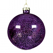 Antique Purple Glass Bauble 80mm