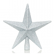 Silver Tree Top Star 20cm