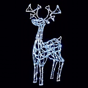 1m Acrylic Standing Reindeer with LED's