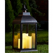 Triple Pillar Lantern (Battery Operated)