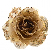Light Gold Clip On Rose - 14cm