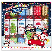 "Santa Northpole Racing 12"" Christmas Crackers Pack of 6"