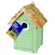 Beach Hut Nest Box - Sage Green