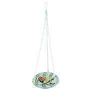 Decorative Robin Mosaic Hanging Bird Bath