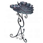 Decorative Leaf Bird Bath Antique Bronze Finish