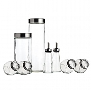 World of Flavours Italian Glass Storage Jar Set