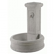 Pillar & Tap Water Feature - Antique White
