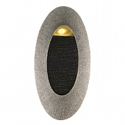 Sandstone Oval Wall Fountain Water Feature Small with LED Light - Grey