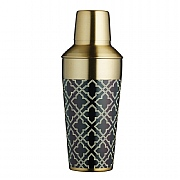 Bar Craft Art Deco Brass Finish Cocktail Shaker 650ml