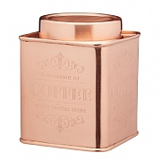 Le'Xpress Stainless Steel Copper Finish Coffee Tin