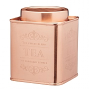 Le'Xpress Stainless Steel Copper Finish Tea Tin