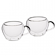Le'Xpress Double Walled Glass Espresso Cups (Set of 2)