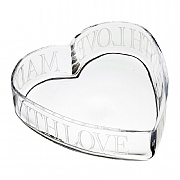 Master Class Artesa Etched Glass Heart Serving Dish