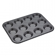 Masterclass Crusty Bake Non-Stick Shallow Baking Tin - 12 Hole