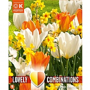 Combi Tulip Orange/White & Narcissus Yellow/Orange (24 Bulbs)
