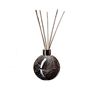 Amelia Art Glass Black Marble Sphere Reed Diffuser
