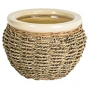 Ivyline Seagrass Pot Cover - Natural