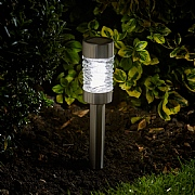 Smart Solar Martini Stainless Steel Stake Light Pack of 4